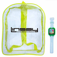 Linsay 1.5 Kids Green Smart Watch With Bag