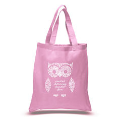 Los Angeles Pop Art Owl Tote
