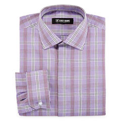 Stacy Adams Long Sleeve Woven Checked Dress Shirt