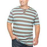 The Foundry Big & Tall Supply Co. Foundry Short Sleeve Henley Shirt-Big and Tall