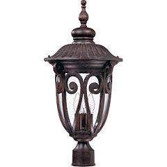 Filament Design 3-Light Burlwood Outdoor Post Light