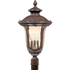 Filament Design 3-Light Fruitwood Amber Outdoor Post Light