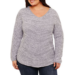a.n.a Long Sleeve Pullover Sweater-Plus