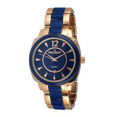 Peugeot® Womens Two-Tone Bracelet Watch 7096RBL