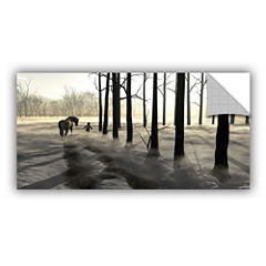 Winter Walk Removable Wall Decal