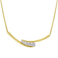 diamond blossom 1/3 CT. T.W. Diamond Cluster Necklace