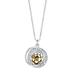 Disney Disney Womens Silver Over Brass Pendant Necklace