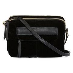Velvet Double Zip Crossbody Bag