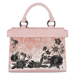 Velvet Embroidered Satchel