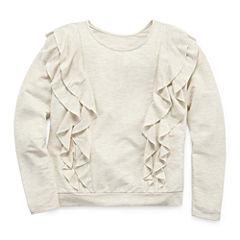 Arizona LS Ruffle Front Sweatshirt - Girls' 7-16 & Plus