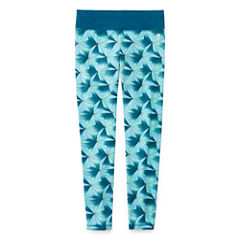 Xersion Printed Cotton Yoga Tights - Girls' 7-16 and Plus