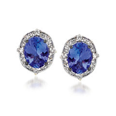 Grand Sample Sale™ by Le Vian® Blueberry Tanzanite® & 1/4 CT. T.W. Vanilla Diamonds® 14K Vanilla Gold® Earrings