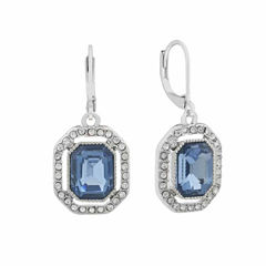 Monet Blue And Silvertone Drop Earring