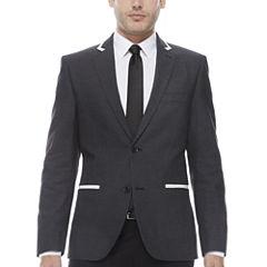 The Savile Row Company Slim Fit Black Pindot Sport Coat
