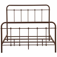 Home Meridian All In One Brown Curve Metal Bed