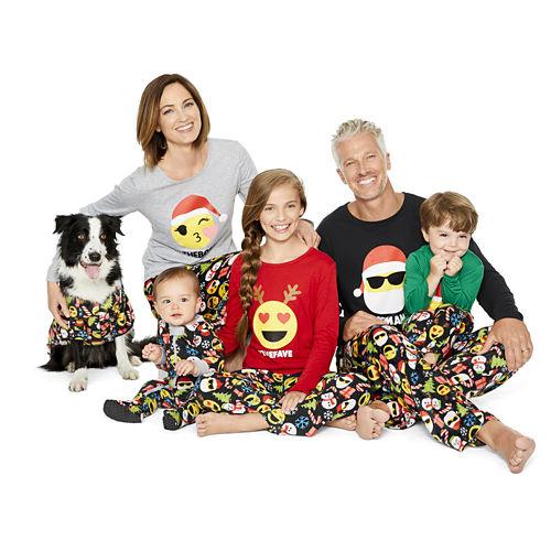 North Pole Trading Co. Merry Textmas Microfleece Family Pajamas-Women's