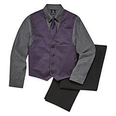 Steve Harvey 4-pc. Suit Set Preschool Boys