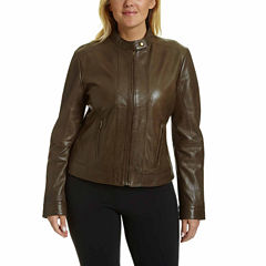 Excelled® Classic Leather Jacket - Plus