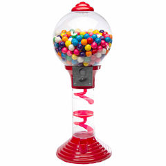 Sweet N Fun Metal Spiral Gumball Machine with Gumballs