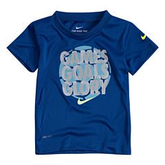 Nike Short Sleeve Crew Neck T-Shirt-Toddler Boys