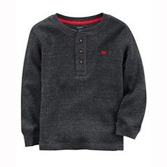 Carter's Long Sleeve Henley Shirt - Preschool Boys