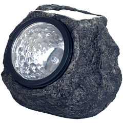 Pure Garden Set of 4 Solar Outdoor LED Rock Landscaping Lights