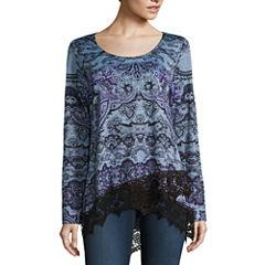 One World Apparel Long Sleeve Scoop Neck T-Shirt-Womens