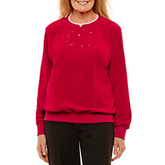 Alfred Dunner Classic Long Sleeve Sweatshirt