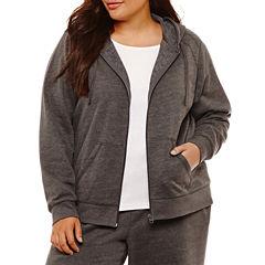 St. John's Bay Active Basic Fleece Hoodie-Plus