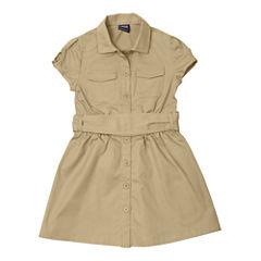 French Toast® Canvas Safari Dress - Girls 7-14