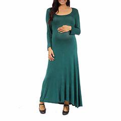 24/7 Comfort Apparel Maxi Dress-Maternity