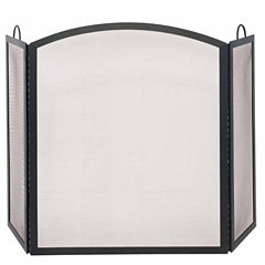 Blue Rhino 3 Fold Wrought Iron Arch Top Fireplace Screen