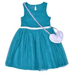 Nanette Baby Short Sleeve Skater Dress - Preschool Girls