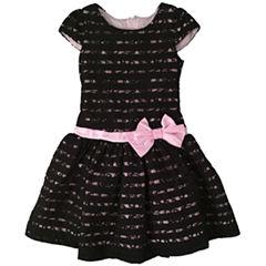 Nanette Baby Short Sleeve Drop Waist Dress - Preschool Girls