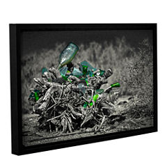 Brushstone Stumped To Stop Gallery Wrapped Floater-Framed Canvas Wall Art