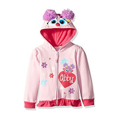 Sesame Street Toddler Girls Abby Costume Hoodie with Crystalline and Glitter Wings