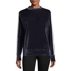 Xersion Velour Mock Neck Pullover