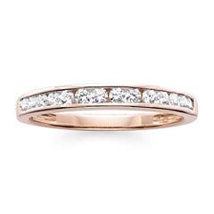 1/4 CT. T.W. Diamond 10K Rose Gold Wedding Band
