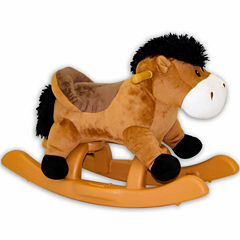 24In Brown Rocking Horse With Sound
