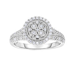 TruMiracle® 1/4 CT. T.W. Diamond Sterling Silver Round Ring