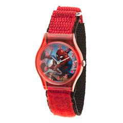 Spiderman Boys Red Strap Watch-Wma000225