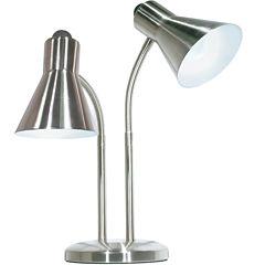 Filament Design 2-Light Brushed Nickel Desk Lamp