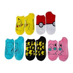 5Pk Ladies Pokemon No Show Socks