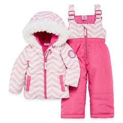 Us Polo Assn. Heavyweight Chevron Snow Suit-Baby Girls