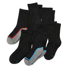 Hanes Xtemp 6 PK Crew Socks - Boys