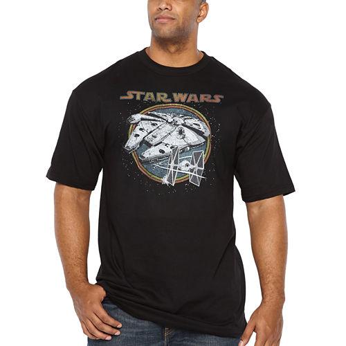 Starwars Battleship Short Sleeve Graphic T-Shirt-Big and Tall