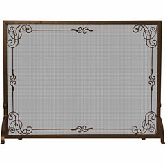 Blue Rhino Single Panel Bronze Finish Fireplace Screen