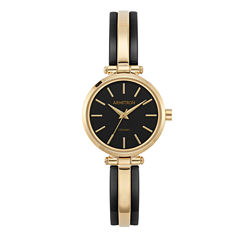 Armitron Womens Gold Tone Bangle Watch-75/5523bkgp