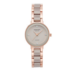 Armitron Womens Rose Goldtone Bracelet Watch-75/5532tprg