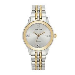 Armitron Womens Two Tone Bracelet Watch-75/5538svtt